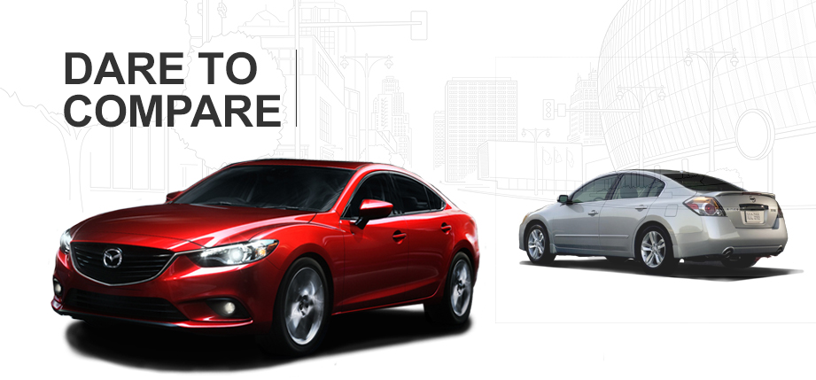 2015 mazda 6 vs 2015 nissan altima. Black Bedroom Furniture Sets. Home Design Ideas