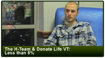 The H-Team & Donate Life VT: Less Than 5%
