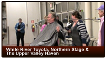 White River Toyota & Northern Stage support the Upper Valley Haven