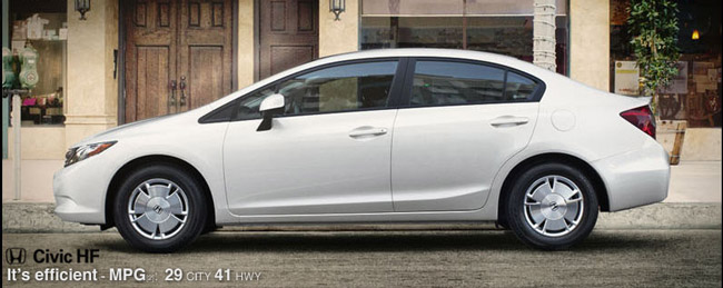 2012 Honda Civic HF Price, Specs