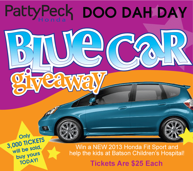 Patty Peck Honda Blue Car Giveaway