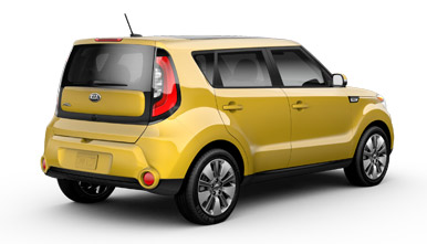 Yellow Kia Soul