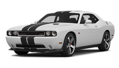 White Dodge Challenger