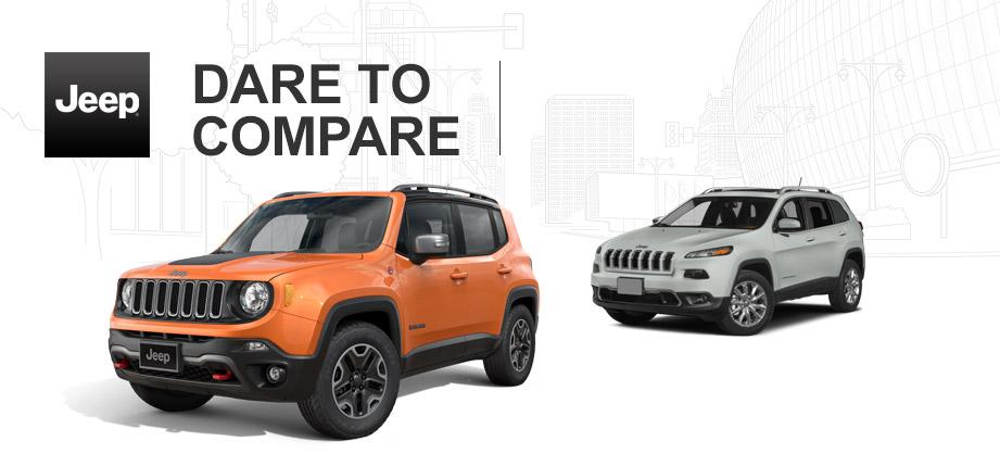 2015 jeep renegade vs 2015 jeep cherokee