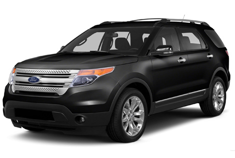 Black Ford Explorer