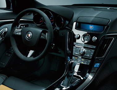Interior of the 2014 Cadillac CTS-V