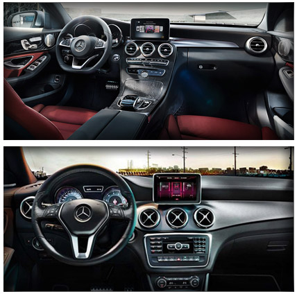 2014 Mercedes-Benz CLA vs 2014 Mercedes-Benz C-Class Interior