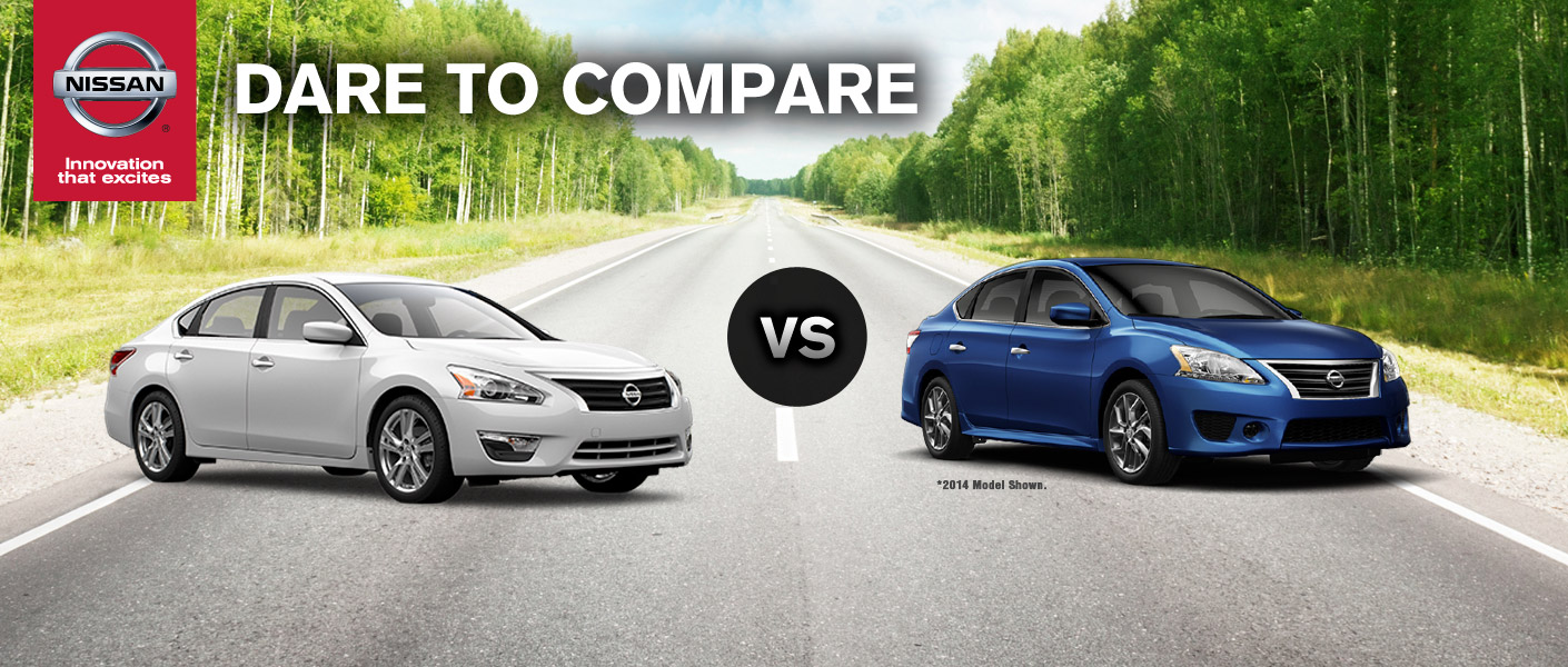 2015 Nissan Altima vs 2015 Nissan Sentra Houston TX