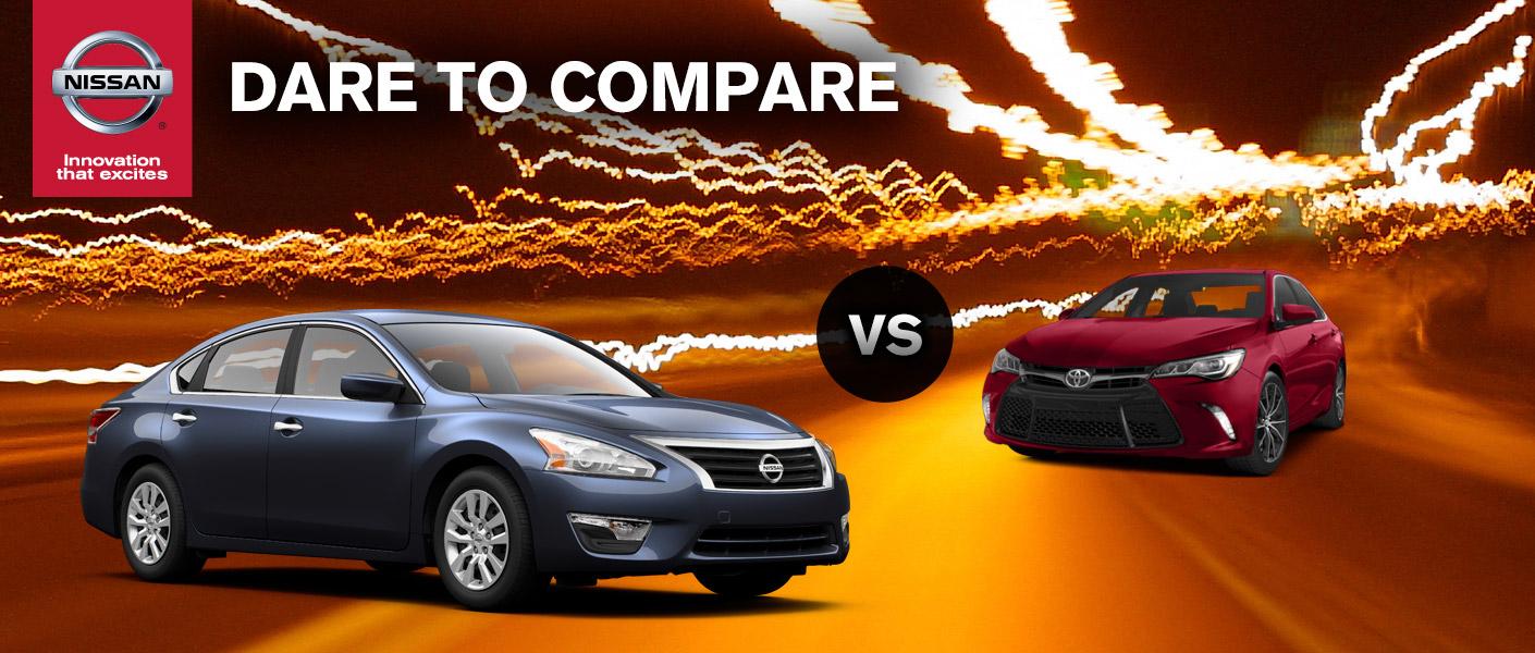 2015 Nissan Altima vs. 2014 Toyota Camry Houston TX