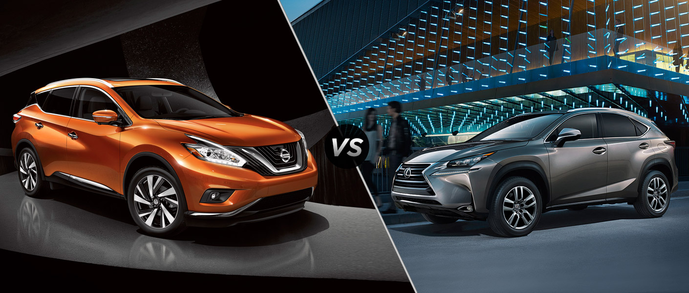 2015 Nissan Murano vs 2015 Lexus NX Houston TX
