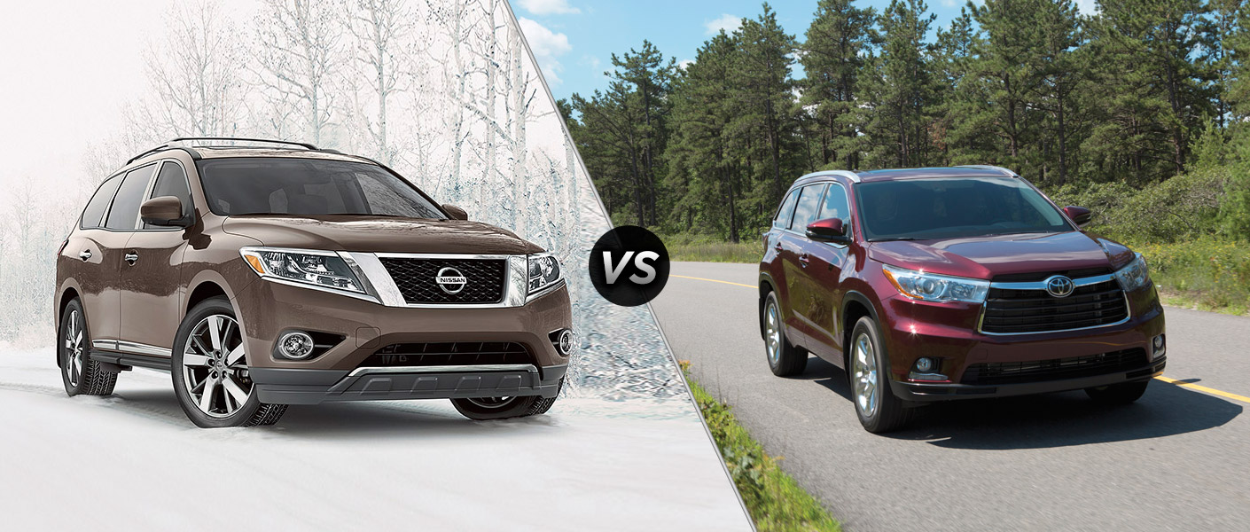 2015 Nissan Pathfinder vs 2015 Toyota Highlander Houston TX