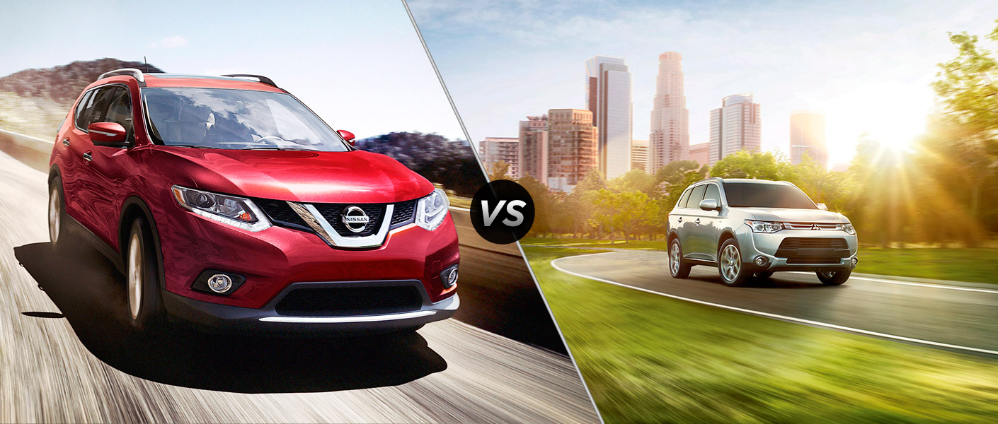 2015 Nissan Rogue vs 2015 Mitsubishi Outlander Houston TX