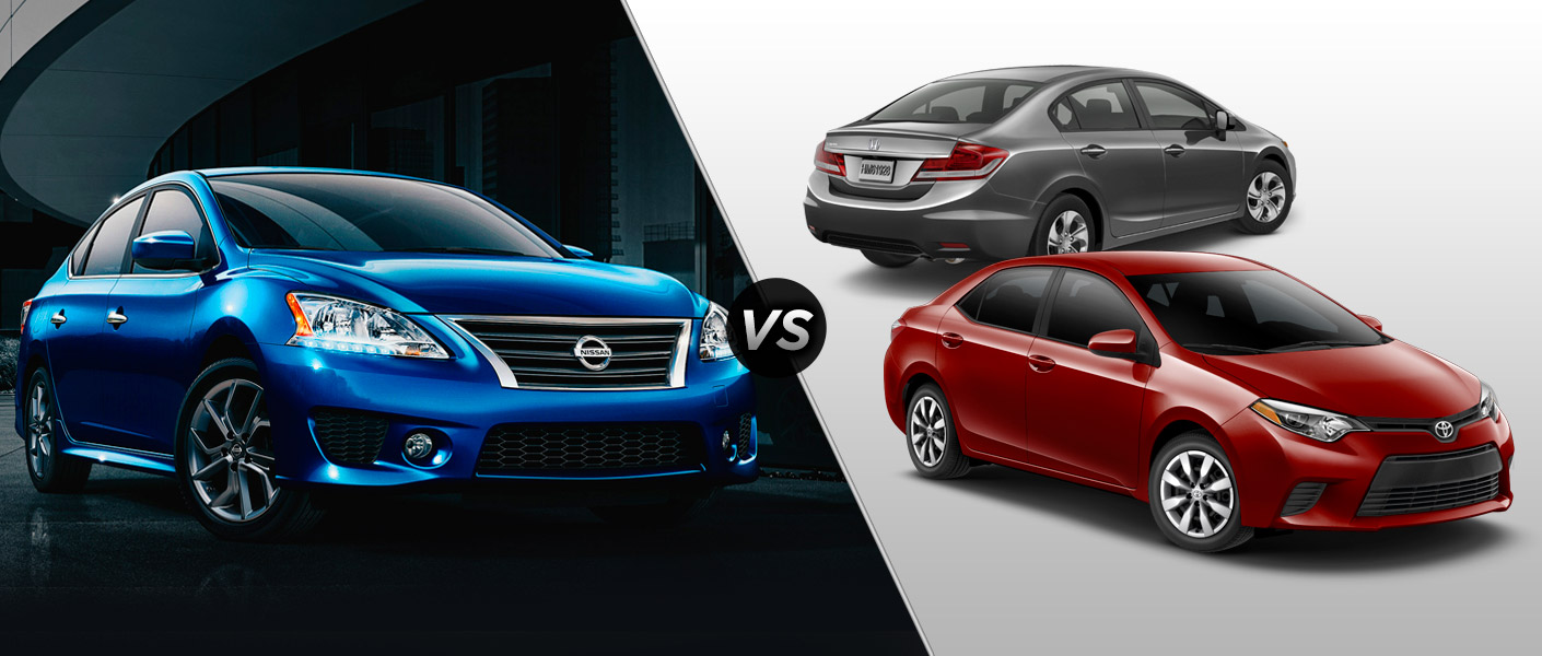 2015 Nissan Sentra Vs 2015 Honda Civic Vs 2015 Toyota Corolla Houston TX