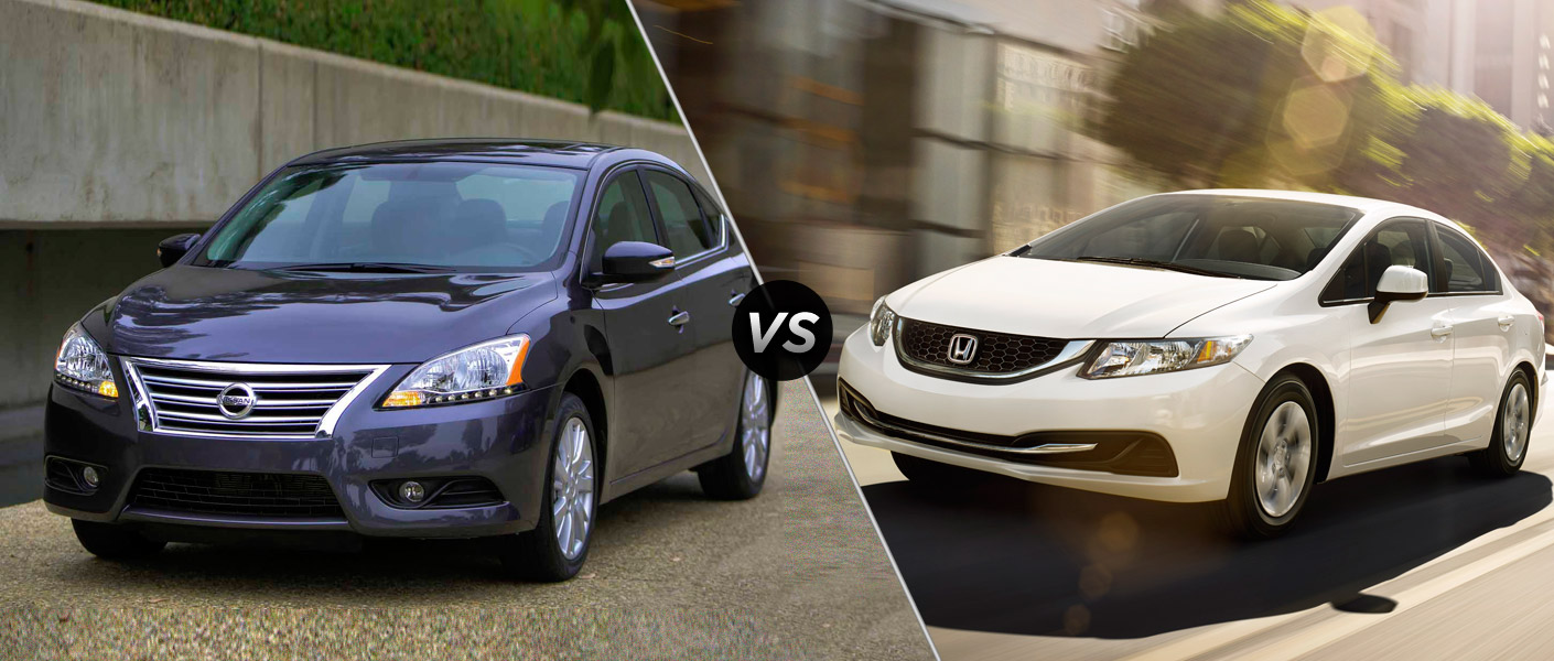 2015 Nissan Sentra vs. 2015 Honda Civic Houston TX