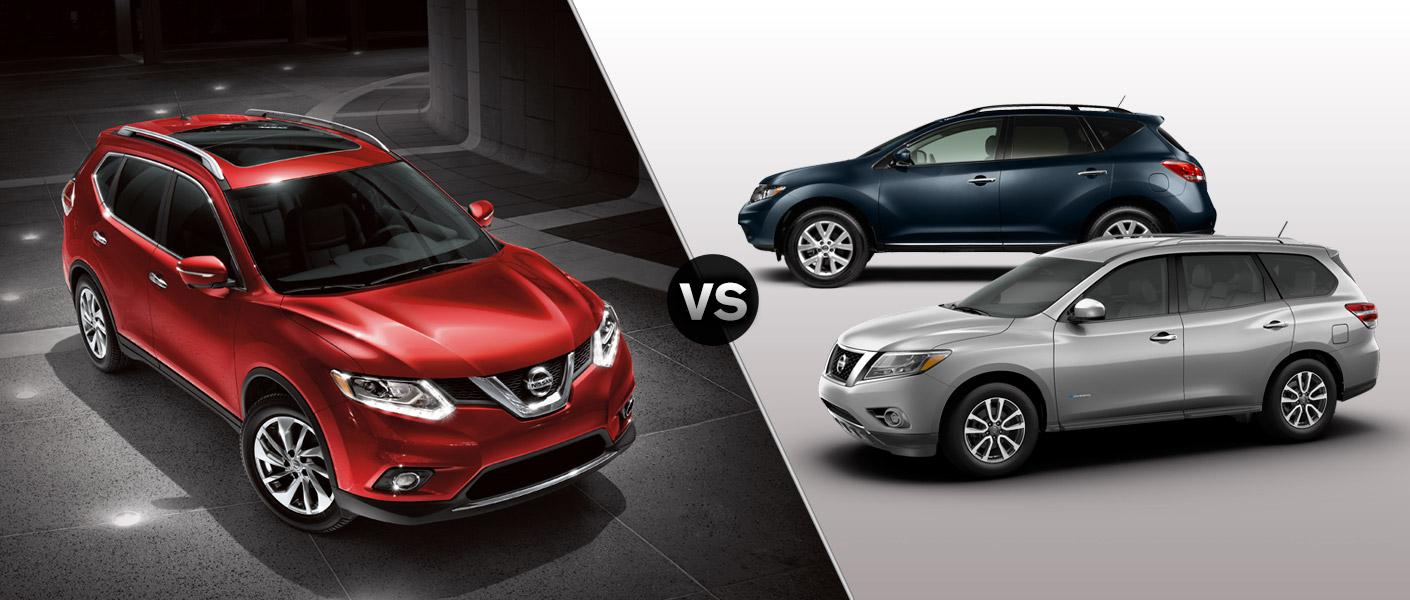 Nissan Rogue Vs Murano >> 2014 Nissan Rogue Vs Murano Vs Pathfinder
